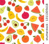 cute seamless pattern with... | Shutterstock .eps vector #1311305618