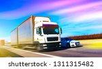 commercial transport .  truck... | Shutterstock . vector #1311315482