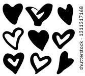 doodle heart shapes set.... | Shutterstock .eps vector #1311317168