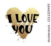 vector gold glitter heart.... | Shutterstock .eps vector #1311329495