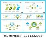 set of workflow or teamwork... | Shutterstock .eps vector #1311332078