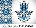 boho hamsa hand  protection... | Shutterstock .eps vector #1311334142