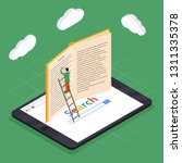 online education isometric... | Shutterstock . vector #1311335378