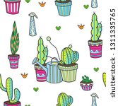 funny potted plants in multi... | Shutterstock .eps vector #1311335765