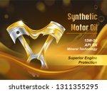 synthetic motor oil for engine... | Shutterstock .eps vector #1311355295