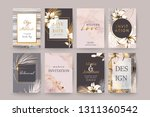 set of elegant chic brochure  ... | Shutterstock .eps vector #1311360542