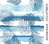 tropical pattern  palm leaves... | Shutterstock .eps vector #1311378815