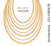 gold chains necklace template... | Shutterstock .eps vector #1311380678