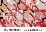 abstract collage asymmetric... | Shutterstock .eps vector #1311383672