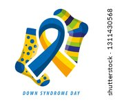 down syndrome day card blue and ... | Shutterstock .eps vector #1311430568