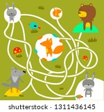 labyrinth for kids with forest... | Shutterstock .eps vector #1311436145