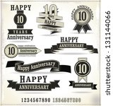 Anniversary labels in retro style