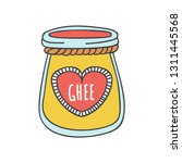 ghee. vector illustration of a... | Shutterstock .eps vector #1311445568