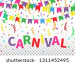 carnival greeting card with... | Shutterstock .eps vector #1311452495