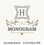 retro royal vintage shield... | Shutterstock .eps vector #1311461105