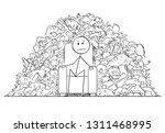 cartoon stick figure drawing... | Shutterstock .eps vector #1311468995