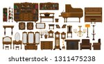 a set of antique furniture for ... | Shutterstock .eps vector #1311475238