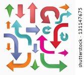 vintage arrows vector   Shutterstock .eps vector #131147675
