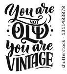 birthday lettering in retro...   Shutterstock .eps vector #1311483878