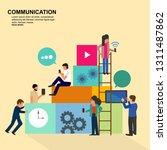 social network web site surfing ... | Shutterstock .eps vector #1311487862