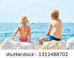 children girl and boy  siblings ... | Shutterstock . vector #1311488702