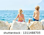 children girl and boy  siblings ... | Shutterstock . vector #1311488705