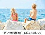 children girl and boy  siblings ... | Shutterstock . vector #1311488708