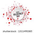 happy valentines day. love... | Shutterstock .eps vector #1311490385