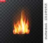 realistic burning fire flames... | Shutterstock .eps vector #1311491915