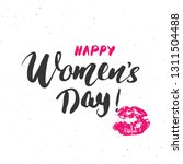 happy women's day hand... | Shutterstock . vector #1311504488