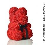 red bear of roses present gift... | Shutterstock . vector #1311509978
