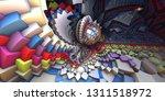 3d abstract landscape  escher...   Shutterstock . vector #1311518972