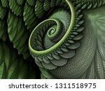 3d illustration   spiral shape...   Shutterstock . vector #1311518975
