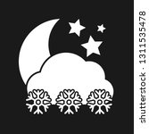 night snowfall icon. white... | Shutterstock .eps vector #1311535478