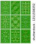 set of nine football fields... | Shutterstock .eps vector #1311538352