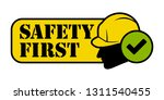 construction safety first... | Shutterstock .eps vector #1311540455