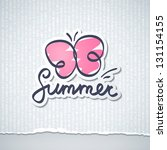 summer vector illustration with ... | Shutterstock .eps vector #131154155