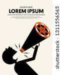 movie and film poster design...   Shutterstock .eps vector #1311556565