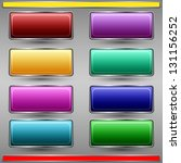 colorful buttons vector set   Shutterstock .eps vector #131156252