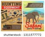 safari hunting ammo equipment... | Shutterstock .eps vector #1311577772