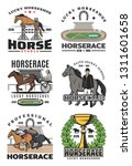 horcerace and equestrian sport... | Shutterstock .eps vector #1311601658