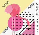 tropical flamingo design | Shutterstock .eps vector #1311602138