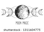 Triple Moon Pagan Wicca Moon...