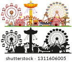 set of circus background... | Shutterstock .eps vector #1311606005