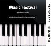 music festival poster template... | Shutterstock .eps vector #1311607952