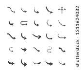 vector illustration of curved... | Shutterstock .eps vector #1311624032
