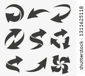 set vector arrows elements for... | Shutterstock .eps vector #1311625118