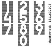 a set of numbers in the form of ... | Shutterstock .eps vector #1311632105