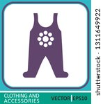 clothes for small children ... | Shutterstock .eps vector #1311649922