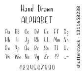 hand drawn font made by ink... | Shutterstock .eps vector #1311658238